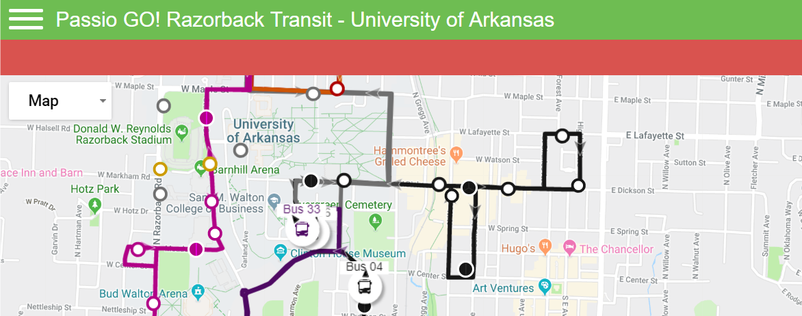Maps and Schedules | Transit and Parking | University of ...